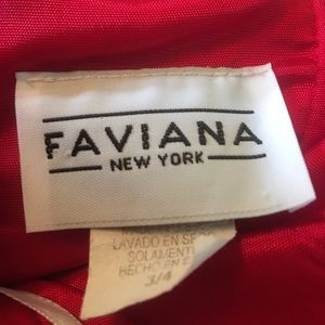 Faviana Dresses - Gorgeous Faviana Red Formal Mermaid Strapless Gown